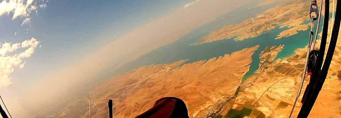 Paragliding brings the mountain to you