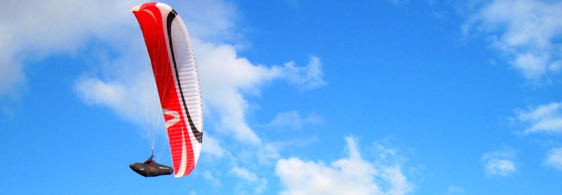 Paragliding is like a breath of fresh air